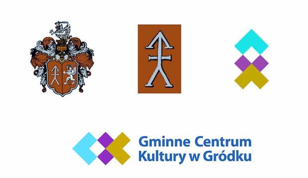 Herb Gródka oraz logo GCK