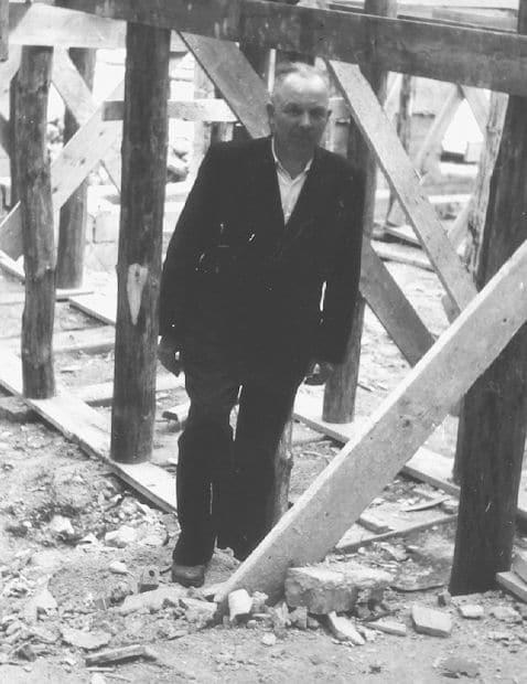 Jan Trochimczuk na budowie