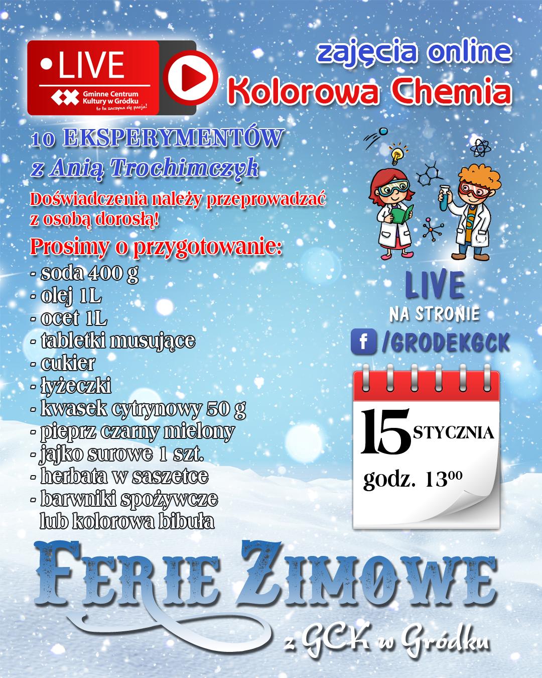 Plakat kolorowa chemia